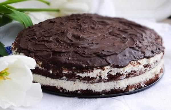 Шоколадный торт в мультиварке «Баунти»