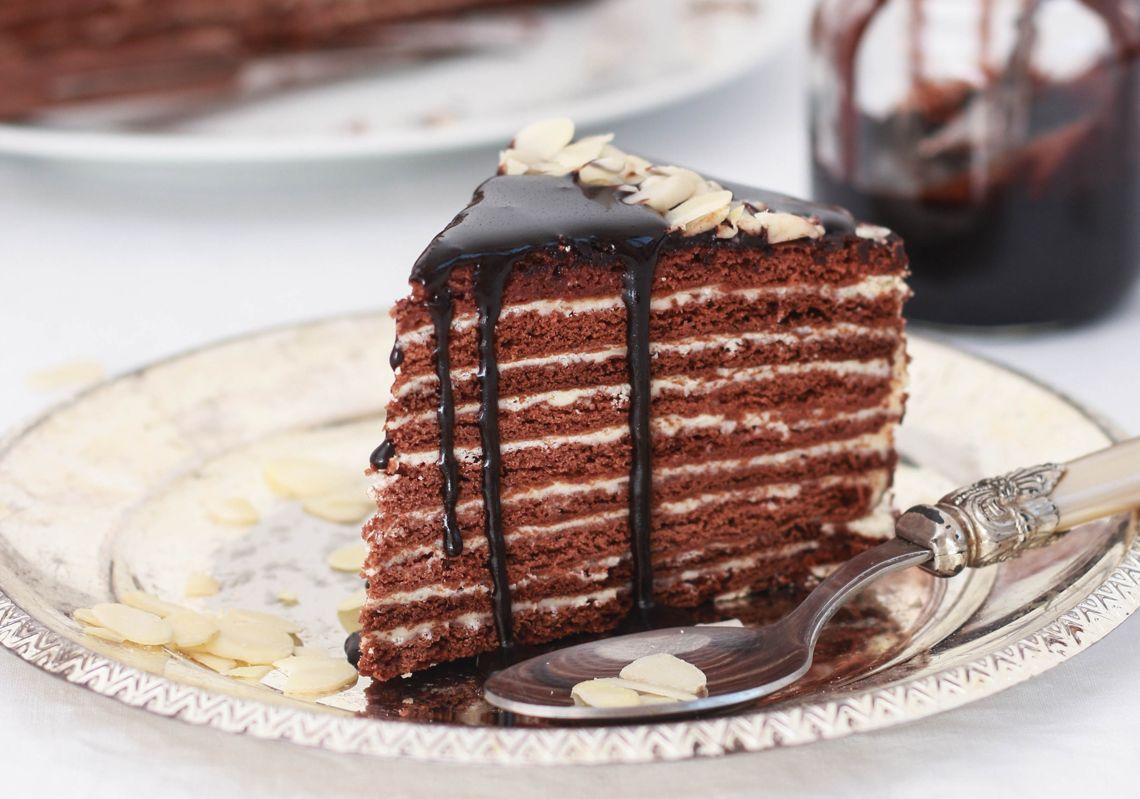 медовик шоколадный рецепт фото пошагово закрыть