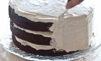 Пошаговый рецепт шоколадного торта со сметанным кремом