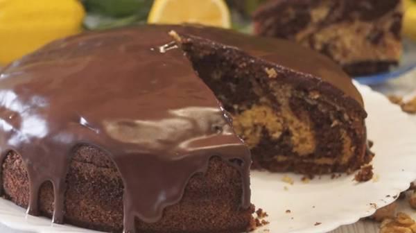 Глазурь из какао для пирога «Зебра»