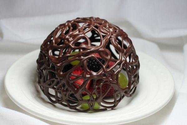 Вазочка из шоколада