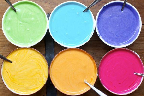 Разноцветная сахарная глазурь