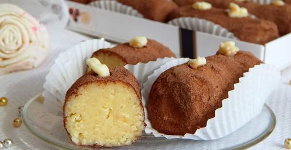 Пирожное «Картошка» из бисквита
