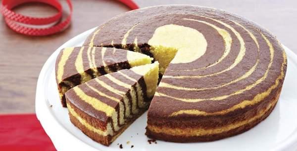 Зебра пирог на манке