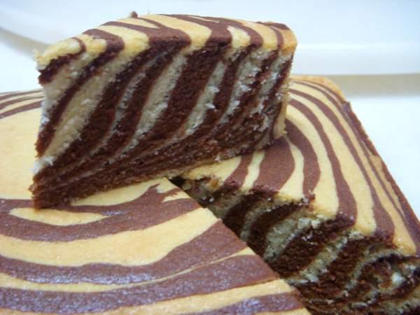 Зебра пирог в мультиварке