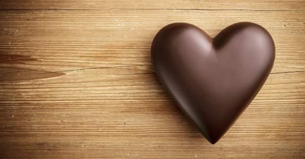 Сердечка из шоколада