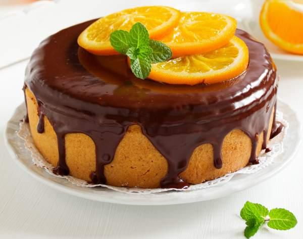 Торт «Апельсины в шоколаде»