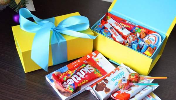 Коробка с шоколадками