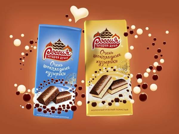 Шоколад «РОССИЯ» – ЩЕДРАЯ ДУША