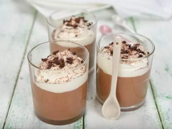 Шоколадное желе с мороженым