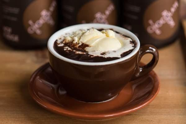 Горячий шоколад со свиным жиром