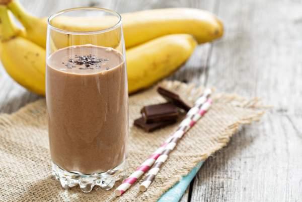 Жидкий шоколад с корицей и бананом