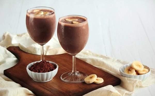Какао с фруктами