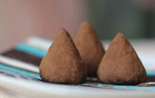 Трюфели из какао и сухого молока
