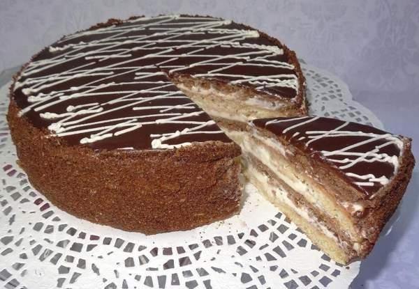 Торт «Мишка на севере» со сметанным кремом