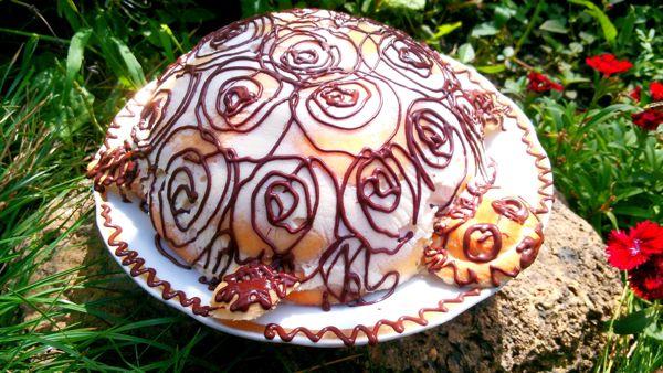 Торт «Черепаха» с заварным кремом