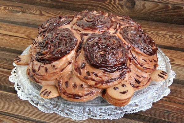 Быстрый рецепт торта «Черепаха»
