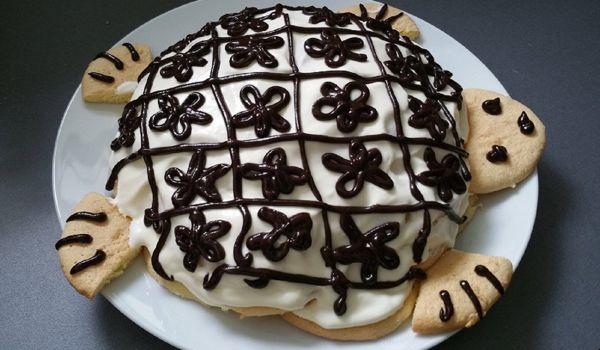Торт «Черепаха» из сметаны и печенья