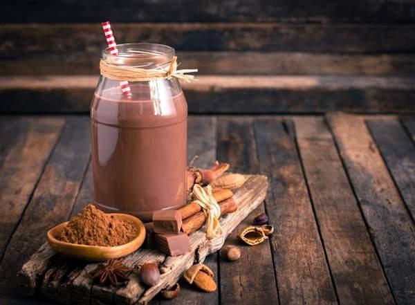 Шоколадно-кофейное на сухом молоке